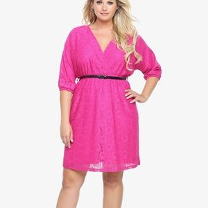 Torrid Berry Allover Lace Mini Dress Pink Sz 2